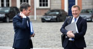 Minister for Finance Paschal Donohoe and Minister for Public Expenditure Michael McGrath: Budget 2021 will be all about Covid-19 and key areas such as housing and the green agenda. Photograph: Dara Mac Donaill