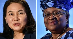 The WTO said on Thursday that the two women were the remaining candidates for director-general after the field was cut from five to two. Photograph: Fabrice CoffriniI / AFP via Getty Images