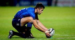 Leinster's Ross Byrne starts at outhalf for the match against Benetton. Photograph: Ryan Byrne/Inpho