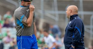"Former Waterford manager Derek McGrath, right,  with former selector Dan Shanahan. ""If Dan wasn't as diligent and as innovative as he was, that iconic status wears off in no time. But that never happened."" Photograph: Morgan Treacy/Inpho"
