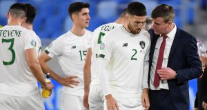 Stephen Kenny: his Republic of Ireland side looked the better team for long periods but over 120 minutes they could not find the net. Photograph: Alexander Hassenstein/Getty Images