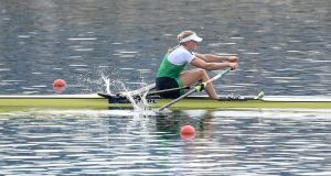 Ireland's Sanita Puspure has qualified for the Women's Singles Sculls final at the European Championships. Photo: Detlev Seyb/Inpho