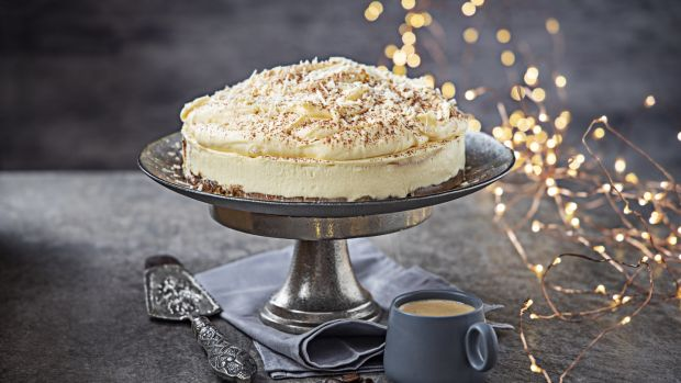 White chocolate tiramisu cake. Photograph: Harry Weir Photography