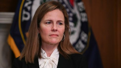 Supreme Court nominee Judge Amy Coney Barrett: Focus of the third supreme court confirmation hearing since Donald Trump's election.  Photograph: Erin Scott