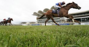 Ryan Moore riding Love  to win the Qipco 1000 Guineas  at Newmarket in June. Photograph: Alan Crowhurst/Getty Images