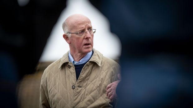 John Oxx pictured at his yard at Currabeg Stables in Co Kildare in March 2019. Photograph: Morgan Treacy/Inpho