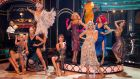 Strictly Come Dancing's professional dancers in a pre-recorded group dance. Photograph: BBC