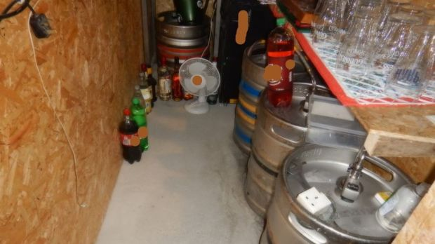 Kegs and beer taps were seized as part of the operation. Photograph: An Garda Síochána