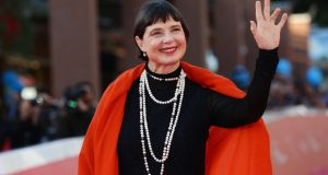 Isabella Rossellini walks the red carpet during the 10th Rome Film Fest at Auditorium Parco Della Musica on October 16, 2015 in Rome, Italy. Photograph:  Vittorio Zunino Celotto/Getty Images