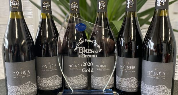 Móinéir Blackberry wine, made from Irish blackberries and elderberries, carried off a gold award at the  Blas na hÉireann awards