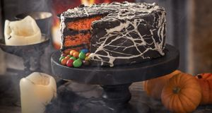 Spiderweb candy cake: Photograph: Harry Weir Photography
