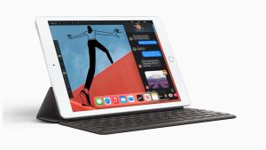 iPad (8th generation) works with the first-generation Apple Pencil and can act as a digital notebook.