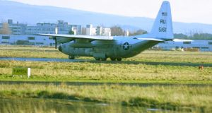 The men allegedly wanted to search two US-owned aircraft at Shannon Airport. File photograph: James Horan/Press 22