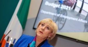 Minister for Social Protection Heather Humphreys said the Pandemic Unemployment Payment had to be sustainable. Photograph: Julien Behal