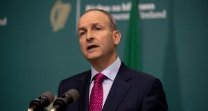 "Micheal Martin during a media briefing.""It will pass. We will make it through this pandemic,"" he said. PhotographTom Honan/Julien Behal Photography/PA Wire"