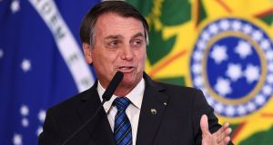 "Brazilian president Jair Bolsonaro: Last week said he had ended the country's Car Wash anti-corruption drive ""because there is no more corruption in government"". Photograph: Evaristo Sa/AFP via Getty Images"