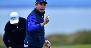 Pádraig Harrington opened with a 66 in the Scottish Championship. Photograph: Mark Runnacles/Getty