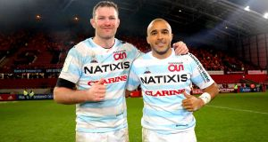 Donnacha Ryan and Simon Zebo could lift the Champions Cup for Racing 92 this weekend. Photograph: Ryan Byrne/Inpho