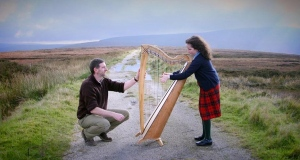 Travel restrictions lead to harp handover on Wicklow-Dublin border