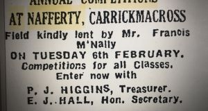 """I found a mention from 1945, in the Anglo-Celt (a Cavan newspaper, but with expansionist ambitions)"""