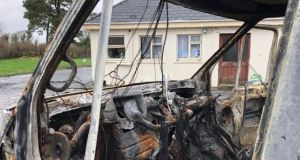 The scene at the house outside Strokestown, Co Roscommon after security staff were attacked by a vigilante gang. Photograph: Peter Murtagh