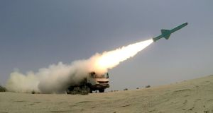 An Iranian-made missile is fired during war games in June. Photograph: Wana News Agency/Reuters