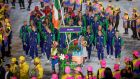 Paddy Barnes leads Team Ireland out at the Opening Ceremony of the 2016 Olympics. Photo: Morgan Treacy/Inpho