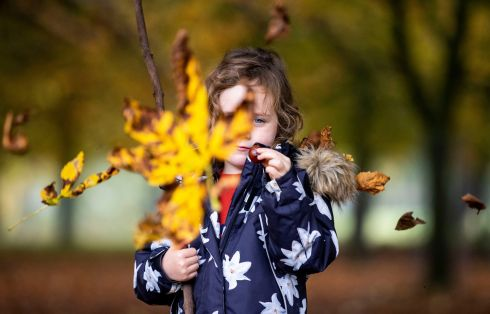 MAKE A WISH: Jane McCarthy (5) from Dublin in the Phoenix Park. Photograph: Tom Honan