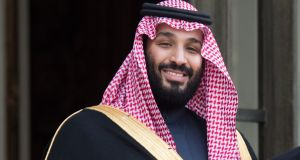 Saudi Arabian crown prince Mohammed bin Salman on an official visit to Paris in  April, 2018. (Photograph: Stephane Cardinale/Corbis via Getty Images