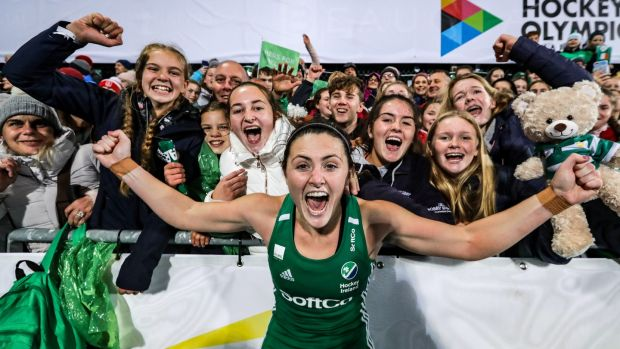 Roisin Upton and the rest of the Ireland women's hockey team will hope to show the world what they're made of again. Photo: Morgan Treacy/Inpho