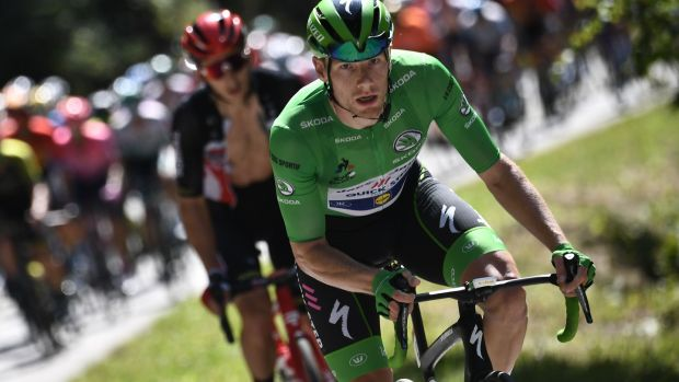 Sam Bennett hit the heights this year by winning the green jersey at the Tour de France. Photo: Marco Bertorello/AFP via Getty Images