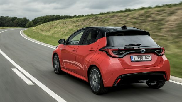 In terms of styling, the new car is like the outgoing model, but takes some cues in the rear from the more striking C-HR crossover, such as the lower angle of the rear C-pillar and the protruding rear-light clusters.