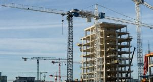 The High Court has overturned a fresh grant of permission by An Bord Pleanála for increased height of two blocks of apartments in a development of 500 apartments/co-living spaces in the north Dublin docklands.   Photograph: Dara Mac Donaill