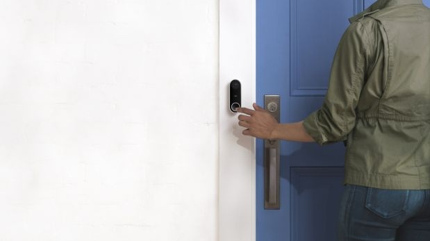 The Nest Hello is Google's offering in the video doorbell market with facial recognition and continuous recording.