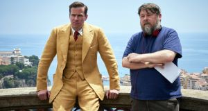 "Armie Hammer and Ben Wheatley: ""It's not as punishing as the other films. It's a big entertainment."" Photograph: Kerry Brown/Netflix"