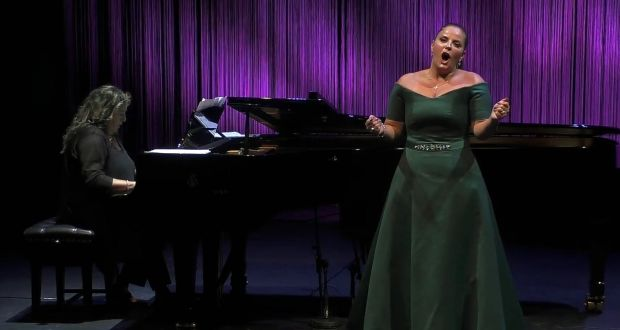 Singer Celine Byrne and pianist Rosetta Cucchi at the National Opera House in Wexford