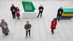 Catherine Ryan-Howard, Patrick Freyne, Anna Carey, Bernard Brogan, Ray D'Arcy, Ruth Medjber and Conor Ferguson, who have all been shortlisted for the 2020 An Post Irish Book Awards