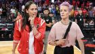 Sue Bird (L) of the Seattle Storm and soccer player Megan Rapinoe at the WNBA All-Star Game 2019 at the Mandalay Bay Events Center in Las Vegas, Nevada. Photo: Ethan Miller/Getty Images