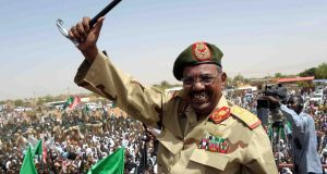 Ousted Sudanese president Omar al-Bashir in April 2012. He was accused of allowing militant groups to operate from his state. Photograph: Ebrahim Hamid/AFP via Getty Images