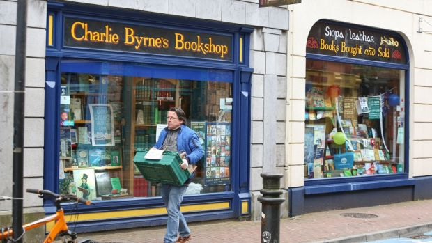 Vinny Browne, manager, taking books for delivery from Charlie Byrne's Bookshop in Galway city. Photograph: Joe O'Shaughnessy