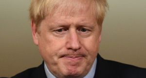 Britain's prime minister Boris Johnson: scale of the defeeat was a serious blow to the government. Photograph:  Leon Neal/AFP via Getty Images)