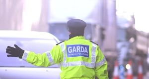 A Garda checkpoint mounted as part of Operation Fanacht on the M4 between Leixlip and Maynooth  this month.  Photograph: Bryan O'Brien