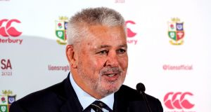 Warren Gatland's Lions will play Japan on home soil before departing for South Africa. Photograph: Morgan Treacy/Inpho