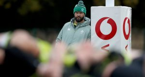 Andy Farrell's Ireland resume their Six Nations campaign at the Aviva Stadium on Saturday. Photograph: Dan Sheridan/Inpho