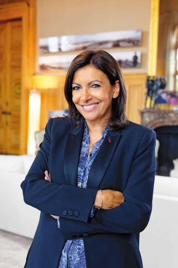The mayor of Paris Anne Hidalgo: she is on her second term with an avowedly green agenda. Photograph: Joann Pai