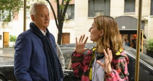 Bill Murray and director Sofia Coppola on the set of On the Rocks