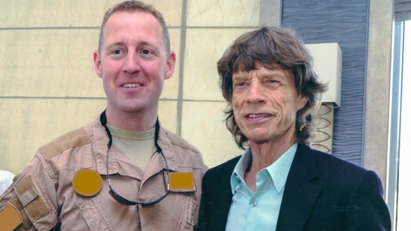 Dave McInerney with Rolling Stones frontman Mick Jagger