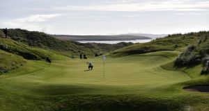 A view of Ballybunion Golf Club. All clubs in the Republic of Ireland closed on Wednesday night for six weeks. Photograph: Charles McQuillan/Getty Images