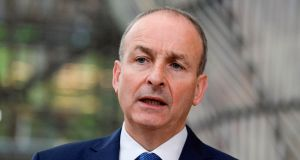Taoiseach Micheál Martin: dealing with explosive TNT revelation that the country's much vaunted test-and-trace system collapsed when the very much expected second wave arrived unexpectedly. Photograph:  Johanna Geron/Getty Images
