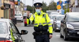There will be over 2,500 gardaí on duty at any one time during the six-week lockdown. Photograph: Liam McBurney/PA